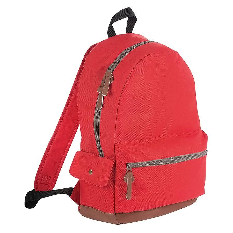 """Рюкзак """"PULSE"""", красный/серый, полиэстер  600D, 42х30х13 см, V16 литров"""