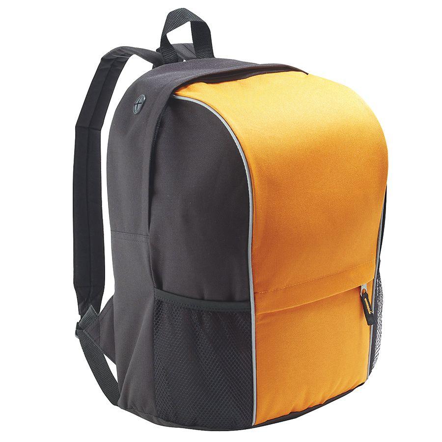 "Рюкзак ""Jump"" со светоотражающей полосой. оранж, полиестер  600D,  светоотражающая окантовка 24х31х4"