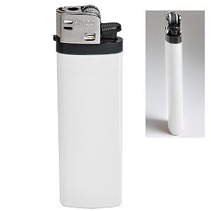 Зажигалка кремневая ISKRA, белая, 8,18х2,53х1,05 см, пластик/тампопечать