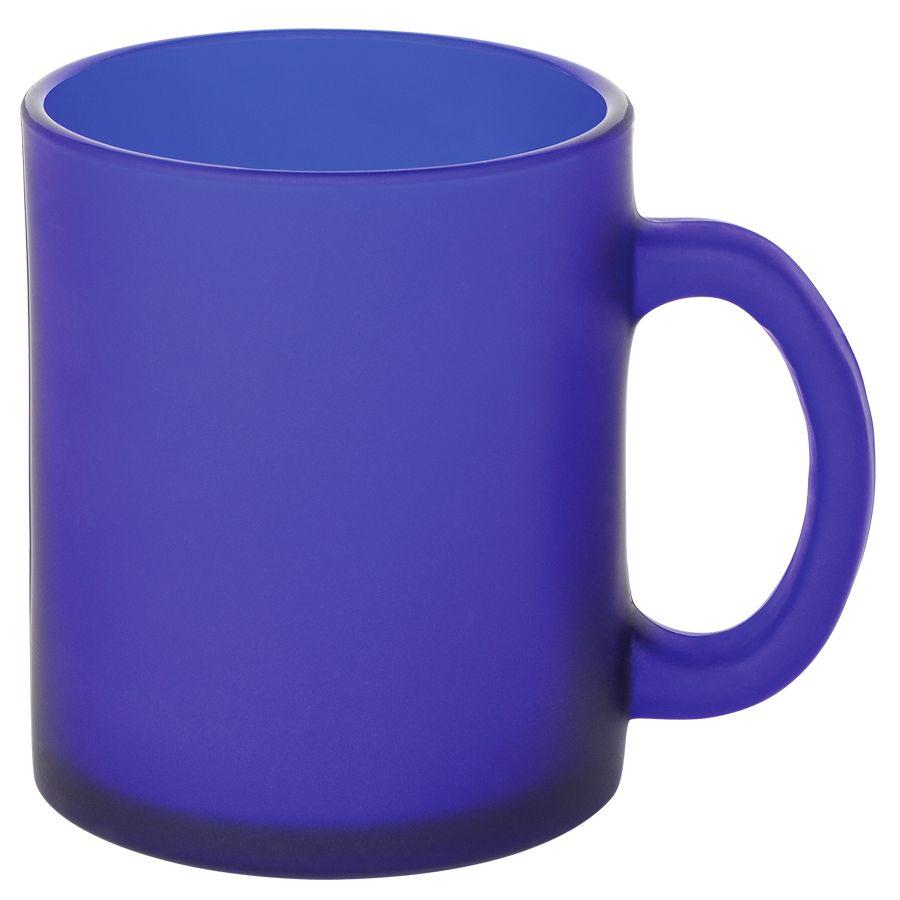 Кружка «Frost»,синяя,320мл,стекло