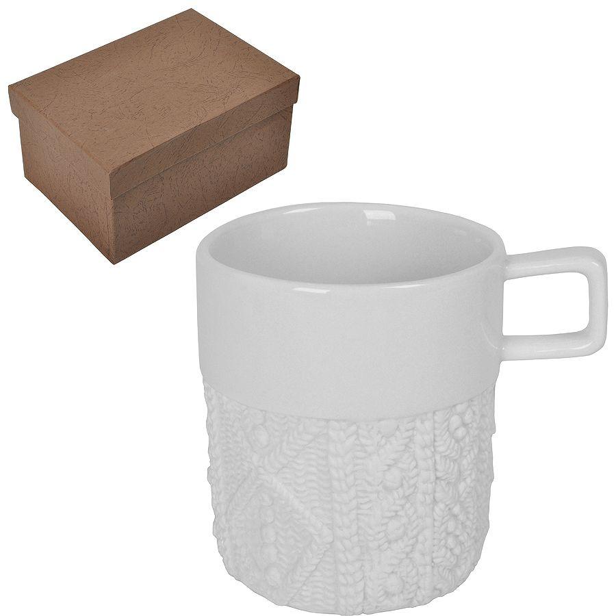 Кружка «Knitted» в подарочной упаковке, 13,5х14,5х9см,310мл, D=8,5см, фарфор;