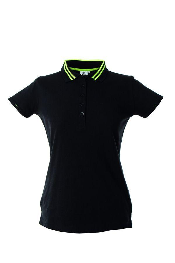TENERIFE LADY Жен. Поло с короткими рукавами черный, размер XL