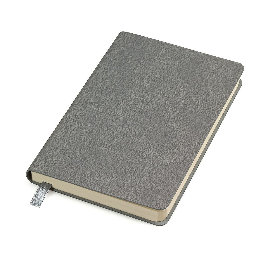 Бизнес-блокнот «URBAN», 130 × 210 мм,  серый,   мягкая обложка,  блок-линейка, тиснение