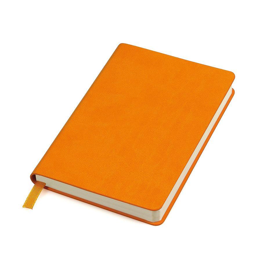 Бизнес-блокнот «URBAN», 130 × 210 мм,  оранжевый,  мягкая обложка,  блок-линейка
