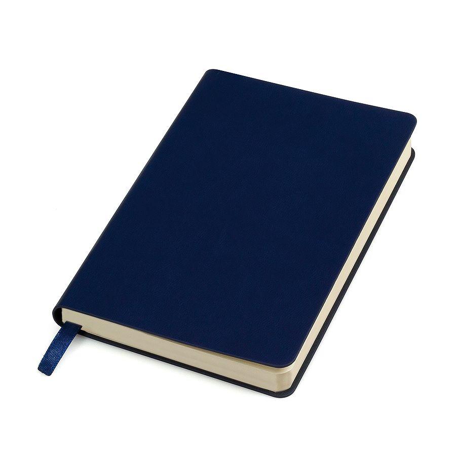 Бизнес-блокнот «URBAN», 130 × 210 мм,  темно-синий,  мягкая обложка,  блок-линейка, тиснение