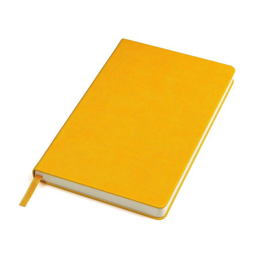 Фотография товара Бизнес-блокнот «Classic», 130*210 мм, желтый,  твердая обложка, блок-линейка, тиснение