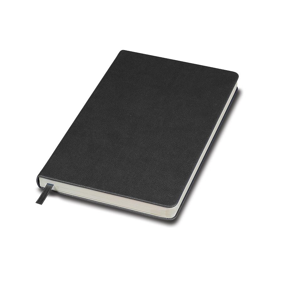 Фотография товара Бизнес-блокнот «Classic», 130*210 мм, серый,  твердая обложка, блок-линейка, тиснение