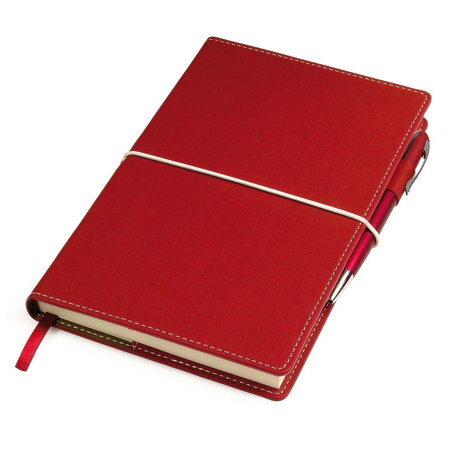 Фотография товара Бизнес-блокнот «BUSINESS», 130*210 мм, красный,  съемная обложка,  блок-линейка, тиснение