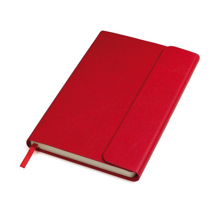 Фотография товара Бизнес-блокнот «Creative», 130*210 мм,  красный, на магнитах, нелинованный блок, тиснение