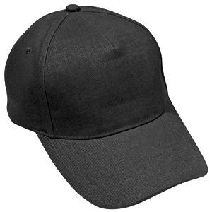 Бейсболка «Премиум», 5 клиньев, металлическая застежка; черный; ; 100% хлопок; плотность 220 г/м2