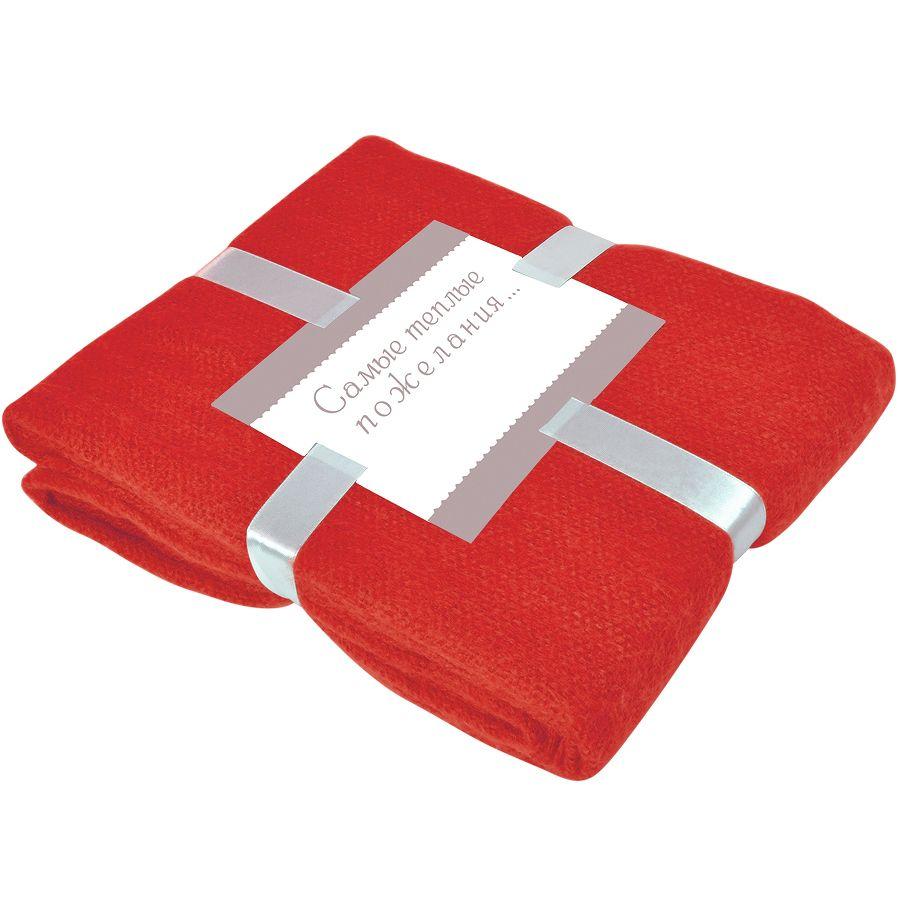 Фотография товара Плед «MOHAIR», красный,  130х150 см; акрил,