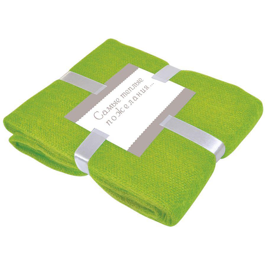 """Плед """"MOHAIR"""", зеленый,  130х150 см; акрил,"""