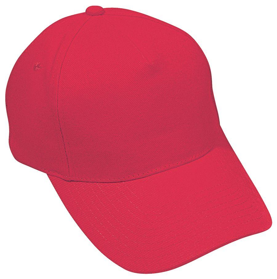Бейсболка «Hit», 5 клиньев,  застежка на липучке; красный; 100% п/э; плотность 135 г/м2