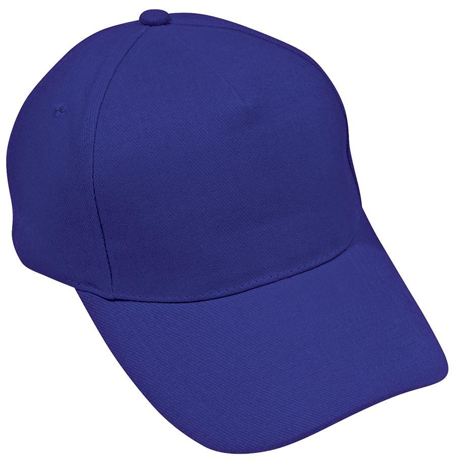 Бейсболка «Hit», 5 клиньев,  застежка на липучке; синий; 100% п/э; плотность 135 г/м2