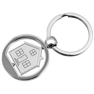 Фотография товара Брелок «Дом»; серебристый; 3,5х7,4х0,2 см; металл; лазерная гравировка