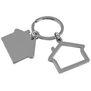 Фотография товара Брелок «Домики»; 3х2,5х0,2 см; металл; лазерная гравировка