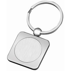 Брелок «Квадрат»; 6х3х0,3 см; металл; лазерная гравировка