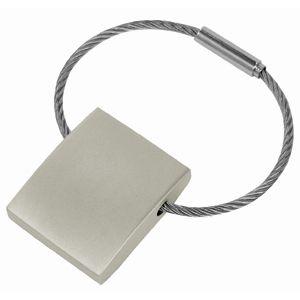 Фотография товара Брелок с тросиком; 3х2,5х0,7 см; металл; лазерная гравировка