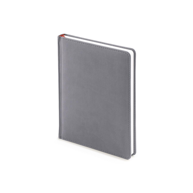 Ежедневник недатированный Velvet, А6+, светло-серый, белый блок, без обреза, ляссе