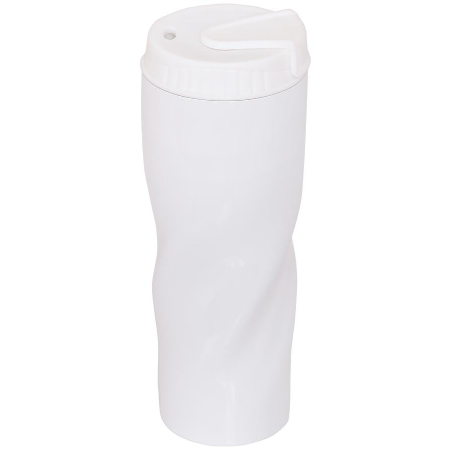Термокружка дорожная «ICEBERG»;  450 мл;  белый  металл
