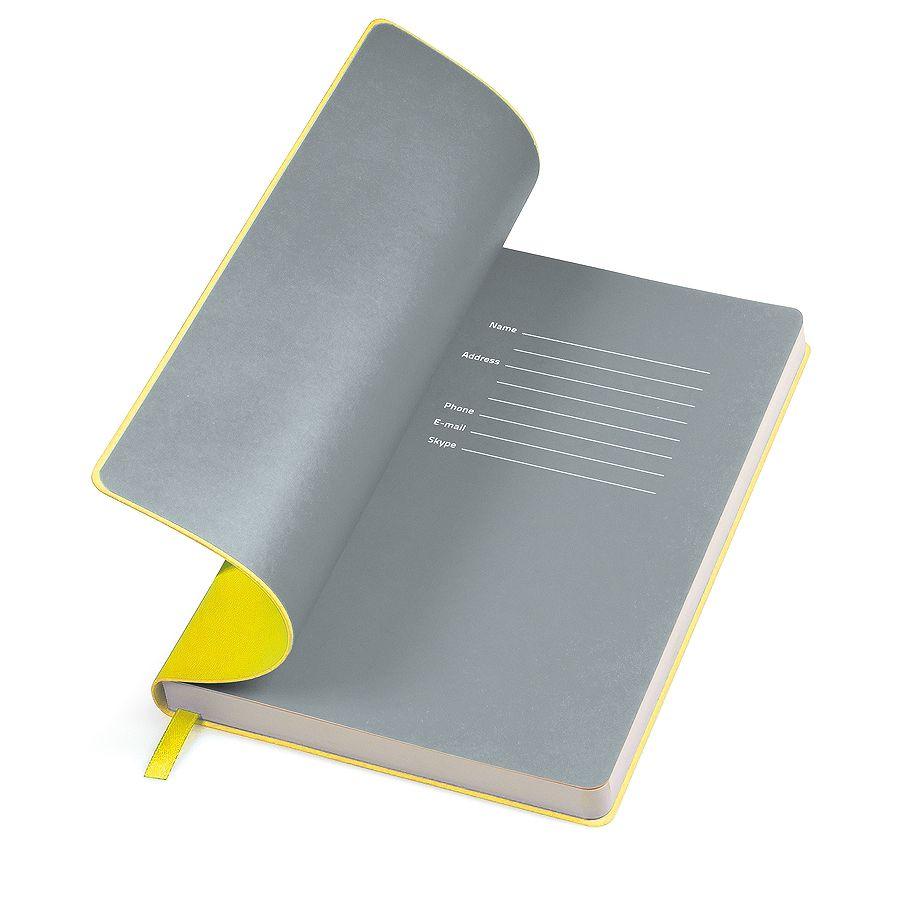 Фотография товара Бизнес-блокнот «Funky» желтый/с серым  форзацем, мягкая обложка,  линейка