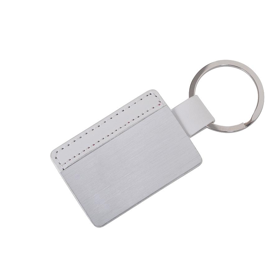 Фотография товара Брелок «Aluminium», белый, 10х4,3х0,5см, искусственная кожа, металл