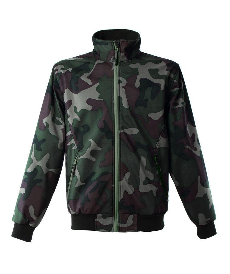 LUGANO Куртка, софтшел, водонеприницаемый камуфляж, размер L