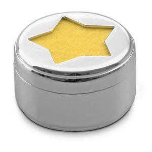 Фотография товара Свеча «Звезда»; D=4,4 см; H=2,6 см; посеребренный металл; лазерная гравировка