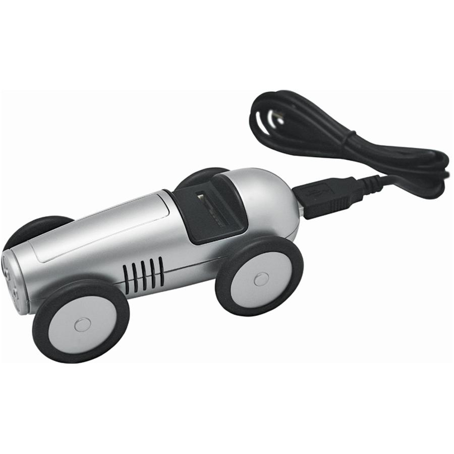 USB-разветвитель «Машинка» с картридером для карт SD/MMC; 11,5х5,5х5 см; пластик; тампопечать