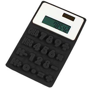 Калькулятор «Flexible»; черный; 8х13х0,8 см; пластик; тампопечать