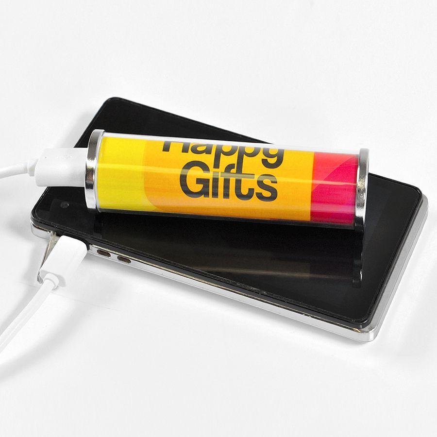Фотография товара Универсальное зарядное устройство «RollUp» (2200mAh) под полноцветную вставку,9,5х2,6 см,пластик