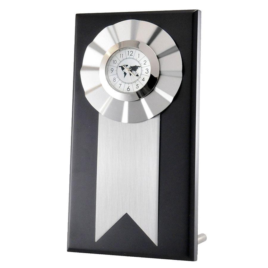 Часы наградные «MEDAL»;  22 см, металл, дерево; лазерная гравировка