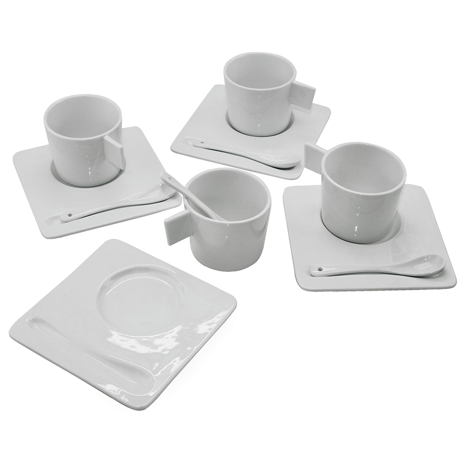 "Чайный набор ""England"": на 4 персоны; 40,5х19х9см, 200 мл; фарфор; деколь"