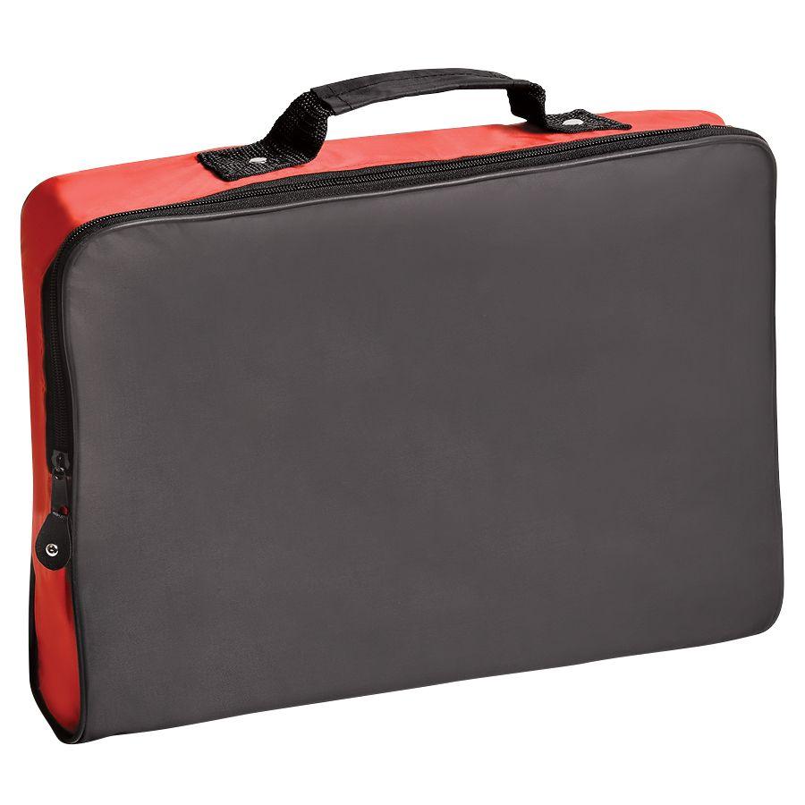 Конференц-сумка «Folder»; черный с красным; 39,5х30х5 см; полиэстер; шелкография