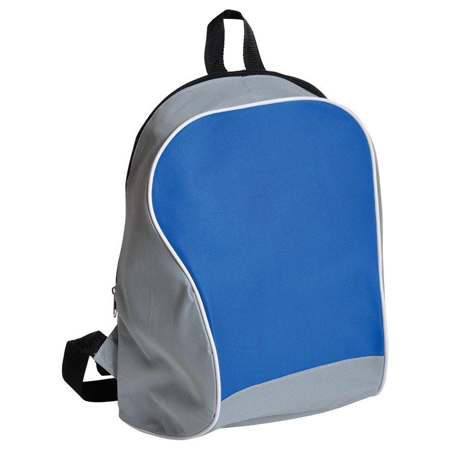 "Промо-рюкзак ""Fun""; серый с синим; 30х38х14 см; полиэстер; шелкография"