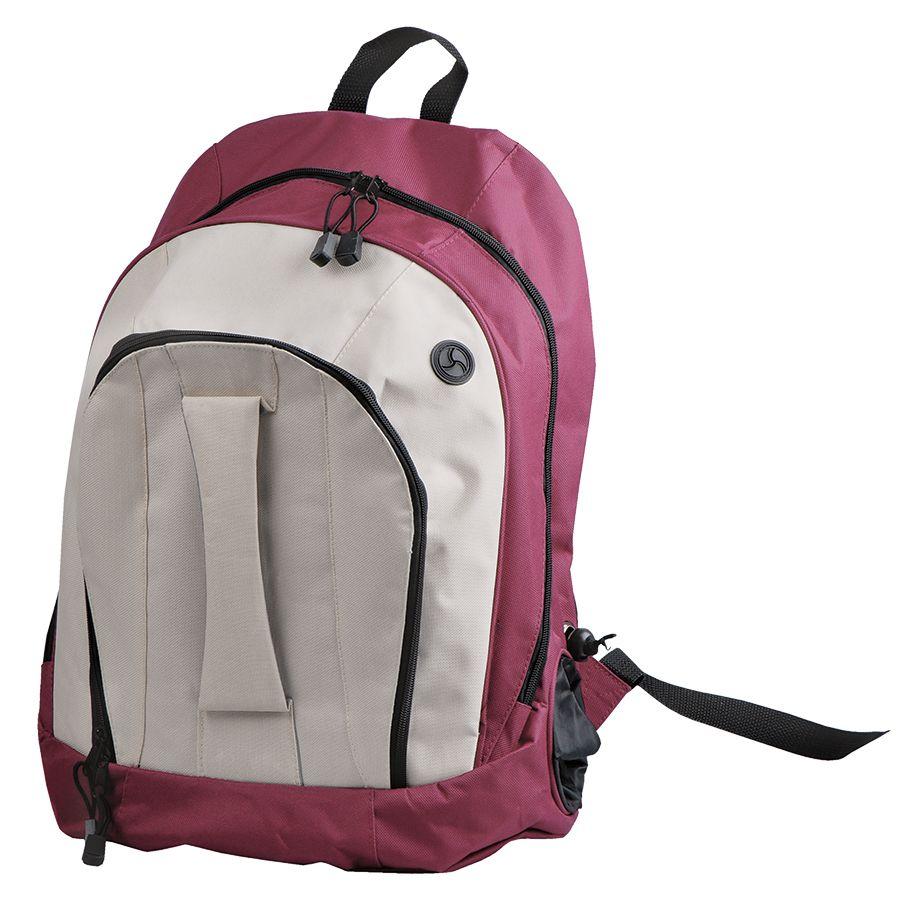 """Рюкзак """"Adventure""""; бордовый с белым; 32х44х17 см; полиэстер; шелкография"""