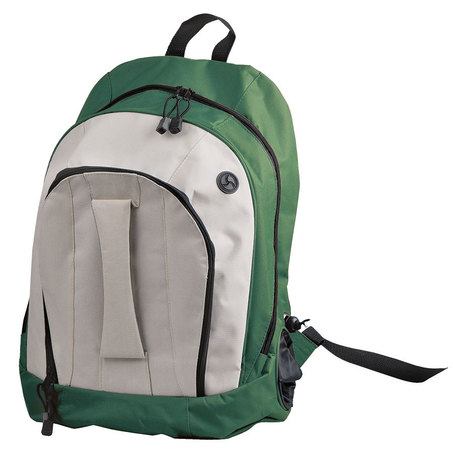 "Рюкзак ""Adventure""; зеленый с белым; 32х44х17 см; полиэстер; шелкография"