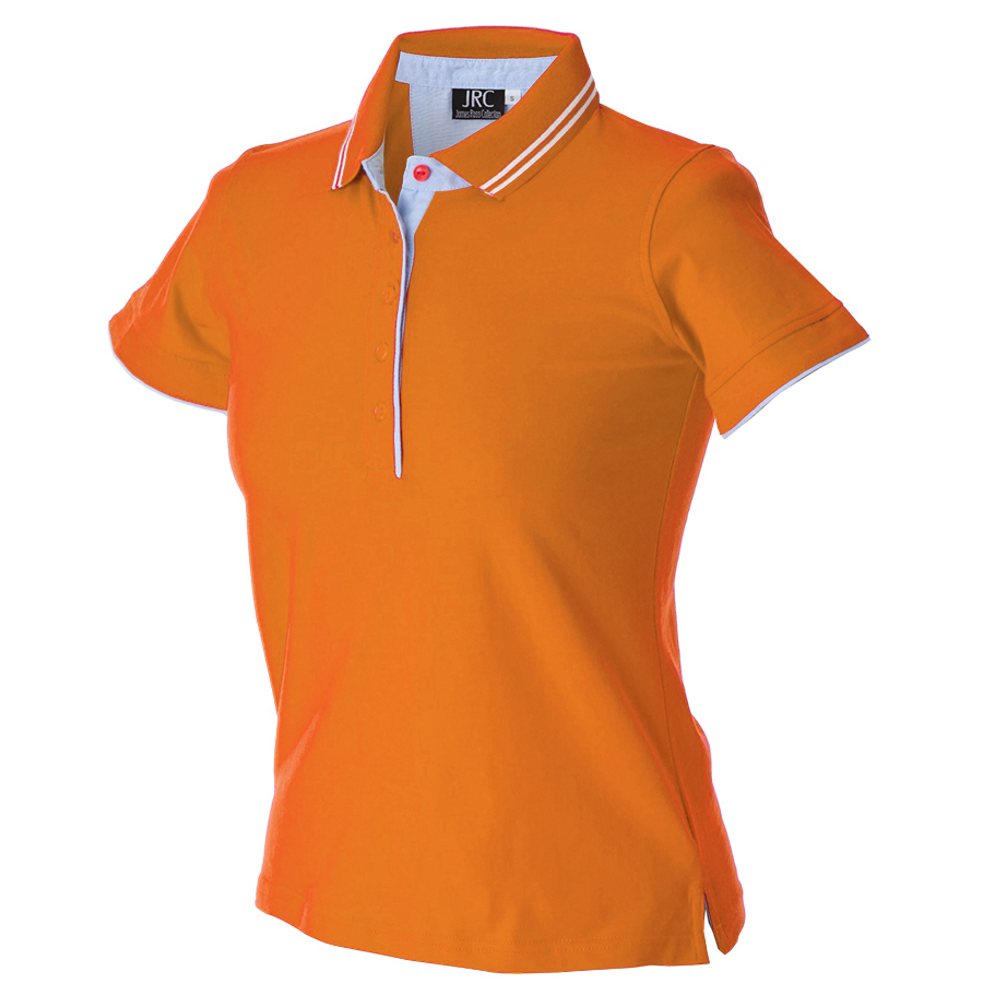"Поло женское ""RODI LADY"", оранжевый_ XL, 100% х/б, 180г/м2"