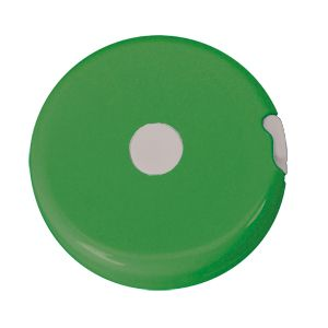 Рулетка «Кнопка» (1,5 м); светло-зеленый; D=5 см; H=1,2 см; пластик; тампопечать