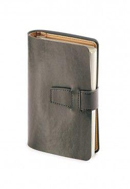 Ежедневник недатированный Siena, серый, А5, бежевый блок, без обреза, без ляссе