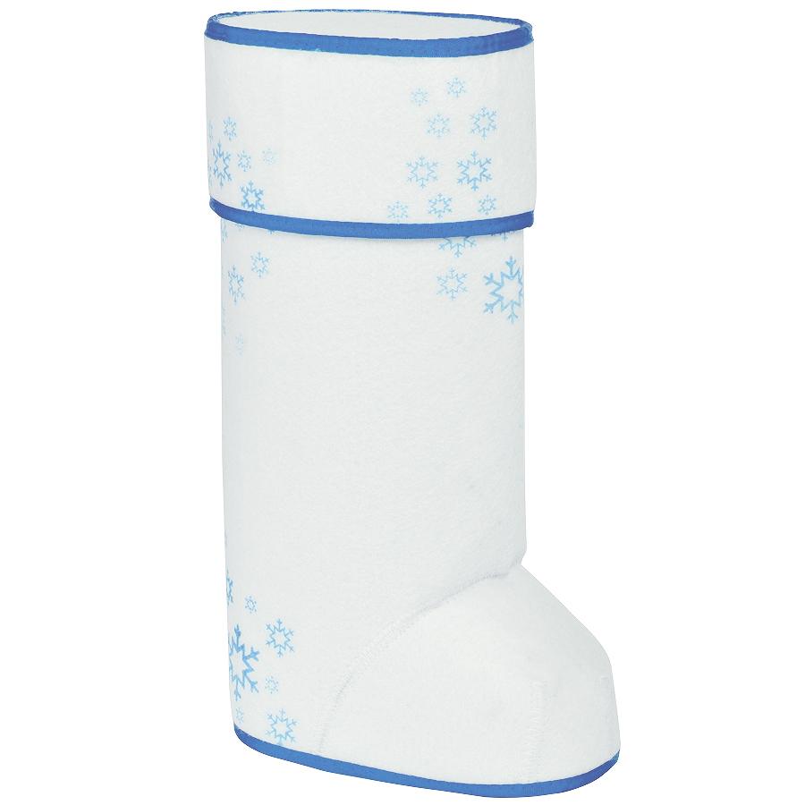 Фотография товара Упаковка подарочная «ВАЛЕНОК», белый/синий, 35х20 см, войлок, термотрансфер, шеврон