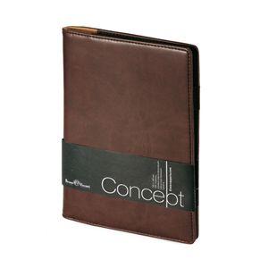Еженедельник недатированный Concept, А5, коричневый, бежевый блок, без обреза