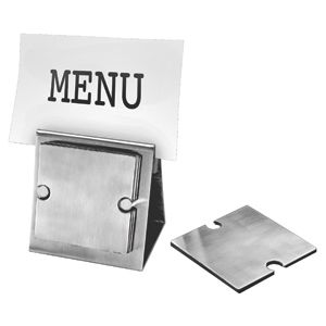 Фотография товара Набор «Dinner»:подставка под кружку/стакан (6шт) и держатель для меню;10,5х7,8х10,5 см;8,3х8,3х0,2см