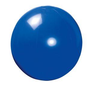 Фотография товара Мяч пляжный надувной; синий; D=40 см (накачан), D=50 см (не накачан), ПВХ