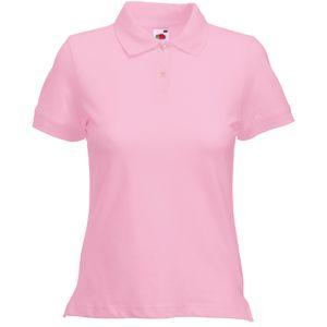 "Поло ""Lady-Fit Polo"", светло-розовый_L, 97% х/б, 3% эластан, 220 г/м2"