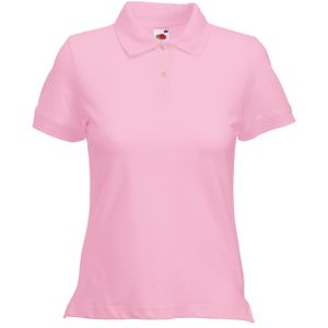 "Поло ""Lady-Fit Polo"", светло-розовый_XS, 97% х/б, 3% эластан, 220 г/м2"