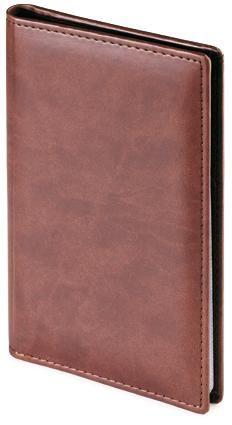 Фотография товара Визитница Velvet, коричневый, 72 визитки