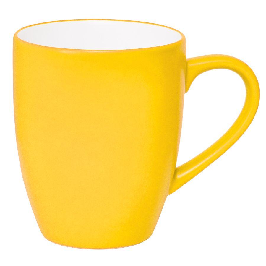 Кружка «Milar», желтый, 300мл, фарфор