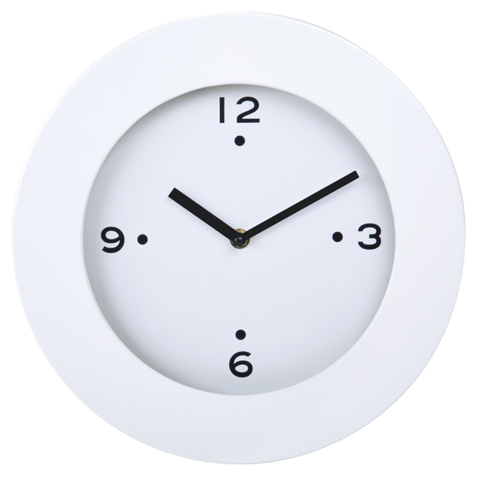 Часы настенные «Хит», D=29,5 см, H=4,5 см, пластик