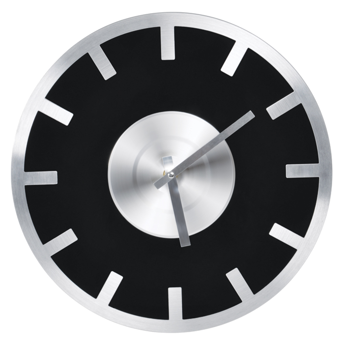 Часы настенные «Элегия», D=30 см, H=3 см, стекло, металл